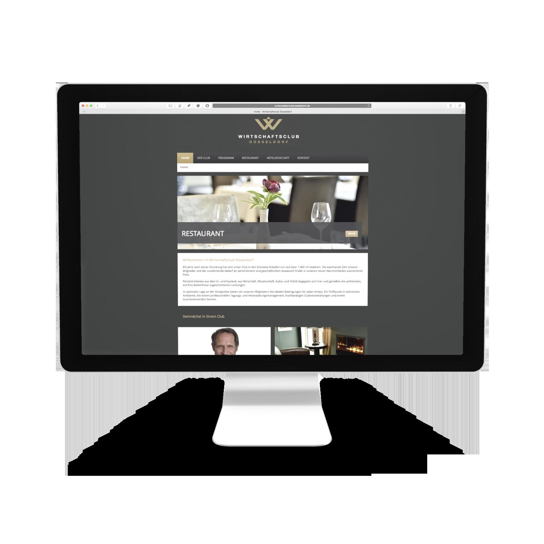 Wirtschaftsclub Düsseldorf Webseite