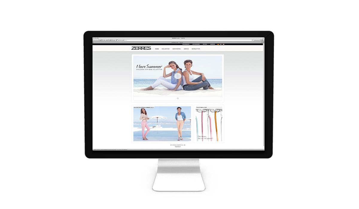 Zerres Webseite